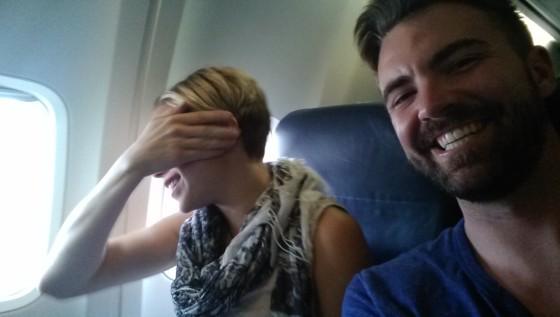Katie and Michael flying to Beijing